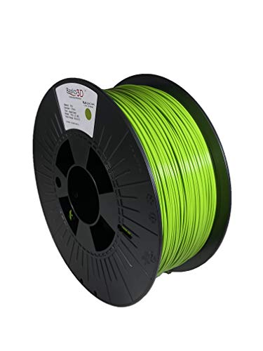 Basics 3D Professional 3D Printer Filament, PLA, Apple Green, 1.75mm, 1.0 Kg, Made in USA