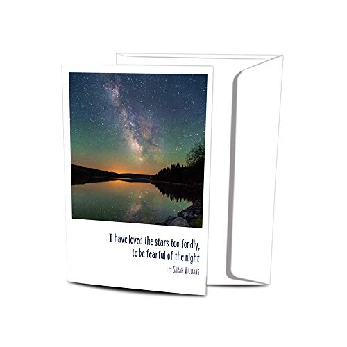 """Tree-Free Greetings Solstice Cards and Envelopes, Set of 12, 4 x 6"""", Loved The Stars (FS93484)"""