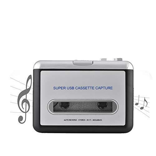 USB Kassette auf PC MP3, Plug & Play, Audioausgang CD Umschalter Konverter. Audio Musik Player mit Kopfhörern