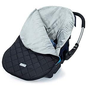 Orzbow saco grupo 0 universal, Saco silla paseo invierno funda maxicosi para Cochecito coche bebe - impermeable y cortavientos (Negro)