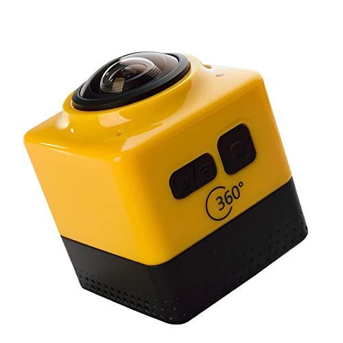CELINEZL Camera CUBE360 GVT100M WiFi Videocamera Portatile, 360 * 190 Gradi Ampio Obiettivo grandangolare