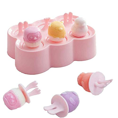 KRIS Eisform Kinde,DIY EIS Am Stiel,Stieleisformer,Eisform Silikon Mit Deckel,Eisform Silikon,Eisform Kinder Einzeln