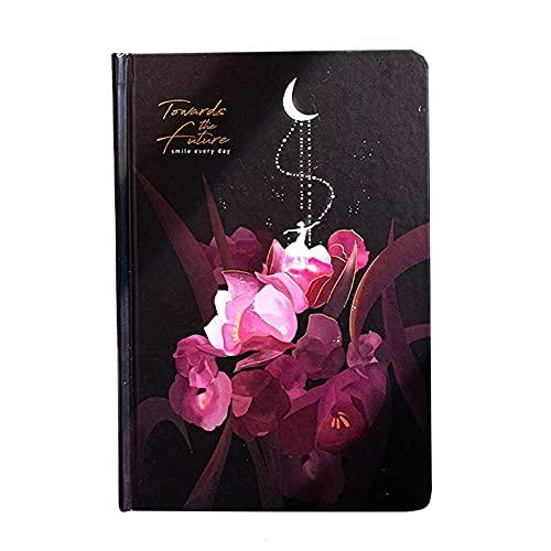 Baishi Diario luminoso de diario bonito colorido para mujeres y niñas, diario personal con 224 páginas de papel grueso