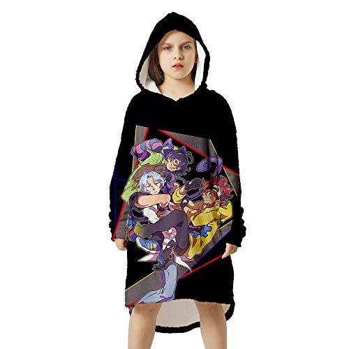 Amacigana® Anime-bedruckter Schlafanzug, weich und bequem, Flanell-Kapuzendecke, Schlafanzug. Das beste Geschenk für geliebte Menschen (Skateboard4, Höhe: 90-110).
