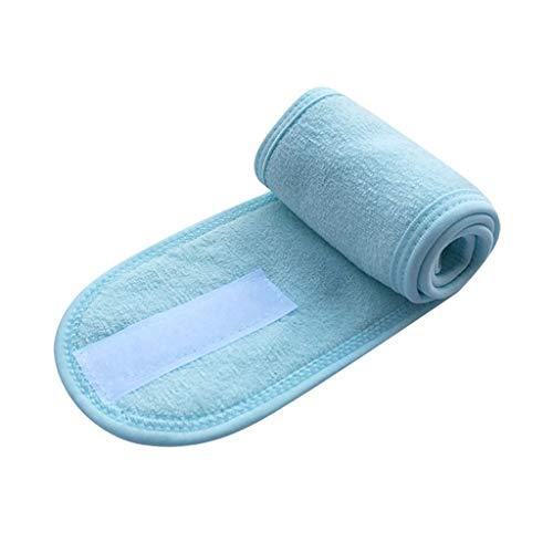 KUDICO Haarband für Make Up,Kosmetik Stirnband Frottee,verstellbares Haarschutzband mit Klettverschluss für Sport,Yoga,Gesichtwaschen