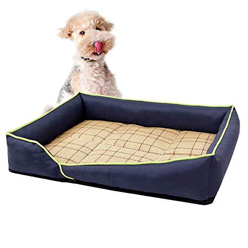Cama de perro Cool Mat para personas adultos almohada sofás mascotas verano colchón grande para gatos cachorros conejos jaulas y casetas Medium azul