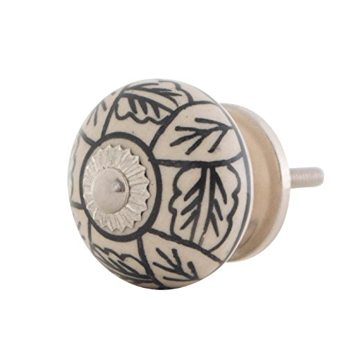 Knober Möbelknopf Keramik Porzellan handbemalt Landhausstil Shabby-Chic Kommodenknopf Kommodengriff (S17)