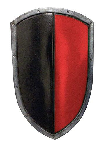 Epic Armoury 423006 RFB Schild, Schwarz/Rot, 60 x 36 cm