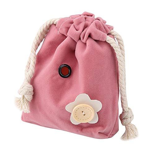 HEEPDD Kleine Haustier Tragetaschen, Tier Abgehende Tasche mit Baumwollseil Tragbare Hamster Carrier Reisetasche Handtasche Rucksack für Lgel Hamster Maus Ratte Zucker Glider Eichhörnchen(pink)
