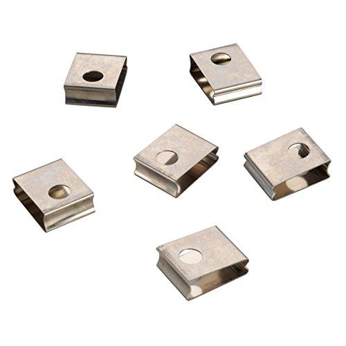 EUTRAC Federclip für 3Phasen HV-Einbauschiene 6er Pack, weiß