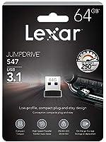 64GB USBメモリ USB3.0 Lexar レキサー JumpDrive S47 超小型 超高速転送 R:100MB/s ブラック 海外リテール LJDS47-64GABBK