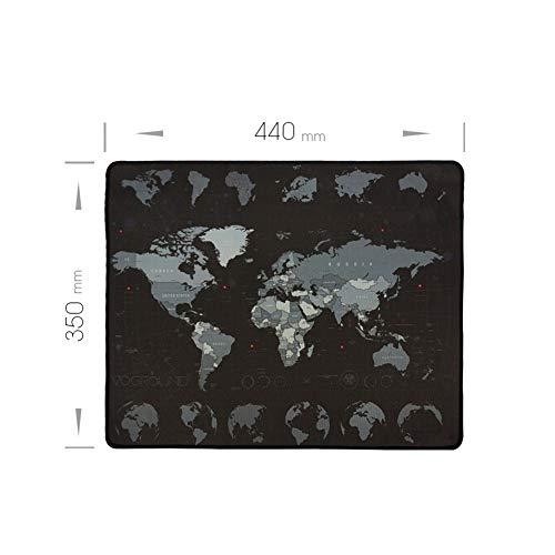 Neu Mauspad Neue Weltkarte Geschwindigkeit Verriegelungsrand Große Naturkautschuk Mauspad Wasserdichtes Spiel Schreibtisch Mousepad Matte for Warcraft Dota LOL (Color : 440 x 350 mm)