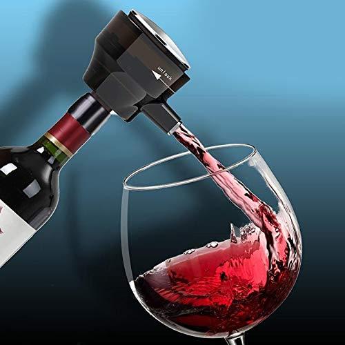 YUY Vertedor de Aireador de Vino Eléctrico, Decantador Electrónico Ultrasónico, Boda,Partido, Aniversario y Cualquier Ocasión