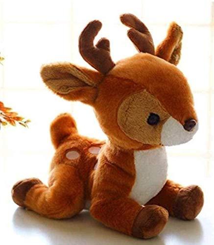 NC86 Plush Toy 23cm Small Deer Soft Deer Lifelike Deer Plush Doll Lifelike Giraffe Doll Car Decoration Ornaments Birthday Gift Pillow Decoration Gift