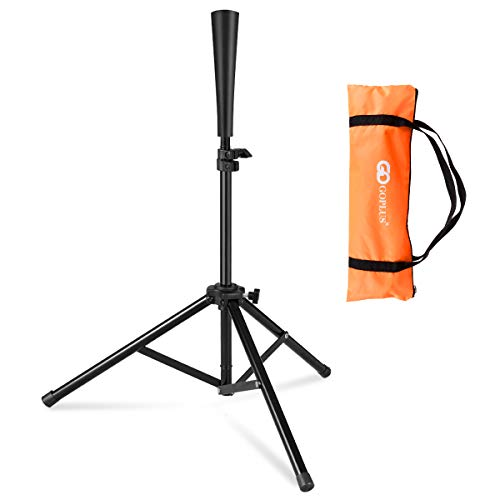 Goplus Batting Tee, Adjustable Baseball Softball Tripod for Batting Training Practice with Carrying Bag
