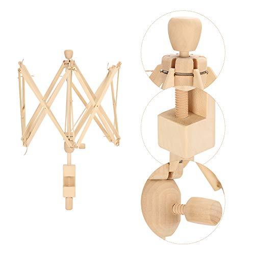 Jacksking Regenschirm Garn Schneller Garnwickler Holzschirm Form Stricken Häkeln Fadenwickler Halter Maschinen Strickwickler Strickwickler