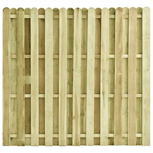 Festnight Zaunelement Kieferholz Imprägniert Gartenzaun Sichtschutzzaun Zaun Windschutzzaun Lamellenzaun 180 x 170 cm