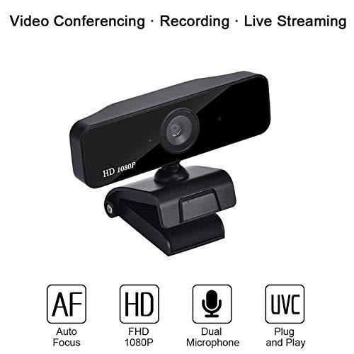 HMY Web CAM Cámara Puerto 360 Grados HD 1080P cámara de Enfoque automático Sensor CMOS Micrófono Ancha USB para Mac OS de Windows del Ordenador