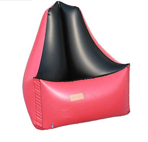 Leeharu - Sillón reclinable de doble uso, triángulo, para ocio, hinchable, para adultos, cama flotante, círculo de natación, círculo de juego, 85 x 85 x 85 cm