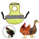 Huhn Warnweste, Haustier reflektierende Weste Huhn Kleidung Geflügel Henne Sattel Schürze Federschutz Halfter Für Huhn Und Ente
