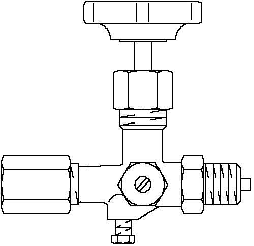 Oventrop Manometer-Absperrventil 1/2 PN 25 m.Prüfzapfen m.Verschlusskappe M 20x1,5