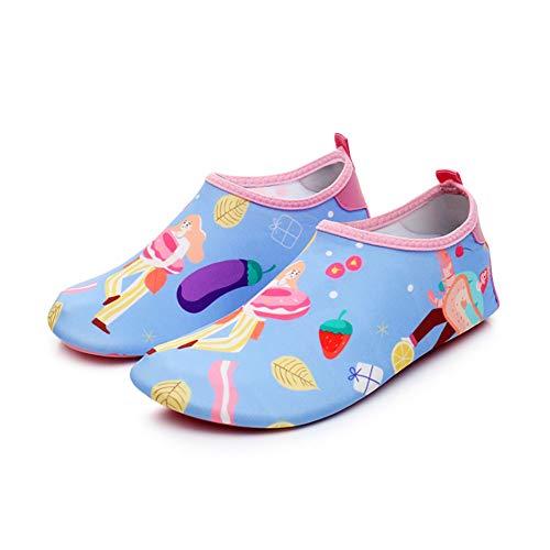 ERLINGO Zapatos de agua transpirables para mujer y hombre, antideslizantes, de secado rápido, calcetines acuáticos para playa, piscina, surf, yoga, ejercicio, color, talla 36 EU