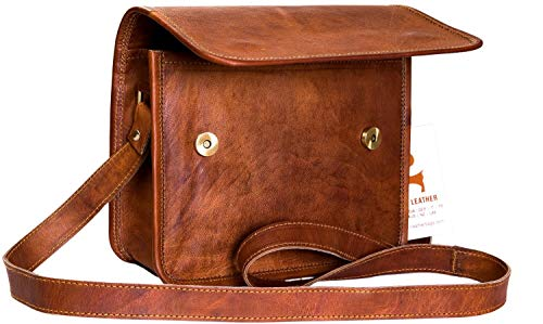 Urban Leather 9 Inch Small Passport Messenger Bag Purse for Men Women   Saddle Satchel Handbag Sling Crossbody Bag Purse Gifts under 50 for Christmas New Year Teen Boys Girls Prime Now 2 hour delivery