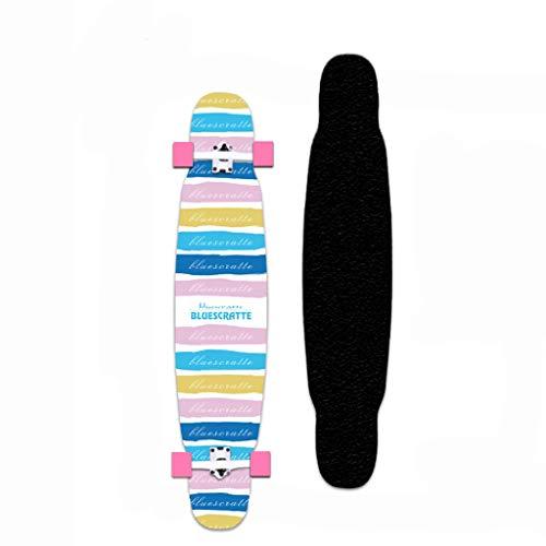 XUEYING-KickScooter Longboard Skateboard Adult Brush Street Anfänger Big Dance Brett Travel Professional Allround-Skateboard (Color : D)