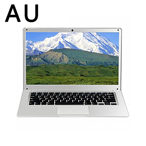 Computadora portátil Intel celeron de 14 Pulgadas, 6GB / 64GB, estándar Australiano Plateado (Incluye Mouse + Mouse Pad)