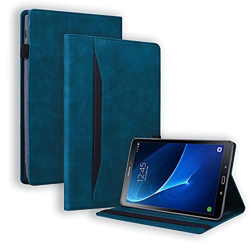 Auslbin Galaxy Tab A6 2016 10.1 Pulgadas Funda,Estuche de Tableta de con Soporte para lápiz/Función Auto Sueño Estela/Función de Soporte,Funda para Samsung Galaxy Tab A6 10.1(SM-T580/SM-T585),Azul
