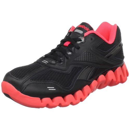 Reebok Zigenergy Running Shoe (Big Kid) Shoe,Black/Neon Cherry,5.5 M US Big Kid