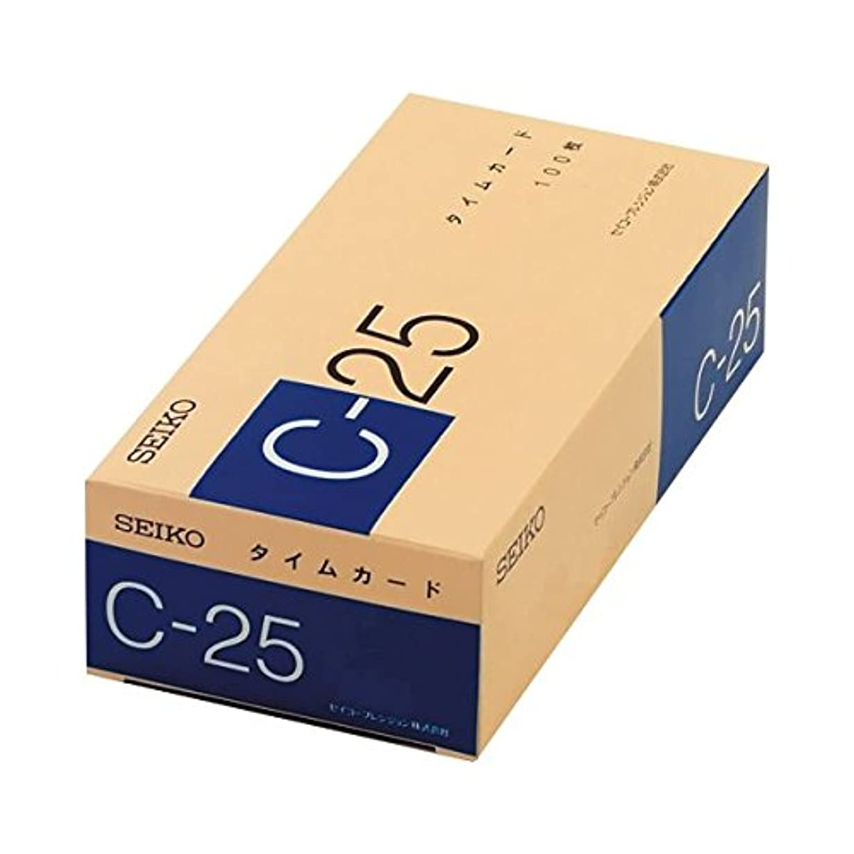 リッチ予定費やす(まとめ) セイコープレシジョン セイコー用タイムカード 25日締 日付印字あり C-25カ-ド 1パック(100枚) 【×3セット】 ds-1570256