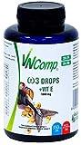 VNComp - Perlas de Omega 3 Cápsulas Aceite de Pescado, 35% EPA y 25% DHA + Vitamina E, 85gr, 60 perlas | Fish Oil, Alta Potencia, Acción Rápida, Alto Contenido en Ácidos Grasos Esenciales