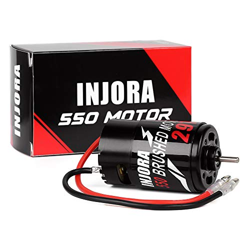 INJORA RC Motor 550 Brushed Motor for 1:10 RC Crawler Axial SCX10 AXI03007 JL 90046 Traxxas TRX4 TRX6 RC Car Boat (29T)