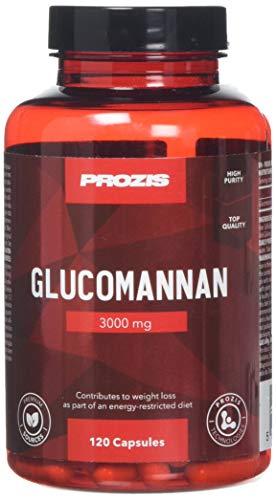 Prozis Glucomannan  - Suplemento Natural para la Pérdida de Peso, Impulsor del Metabolismo y Control del Apetito - 120 Cápsulas - Total: 3000mg