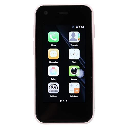 SALALIS Teléfono XS11, Tarjetas Duales, Modo De Espera Doble, Proceso De Vidrio Lateral Curvo Doble, Resolución De Alta Definición, Mini Teléfono Inteligente para Dispositivo De Repuesto para(Rosado)