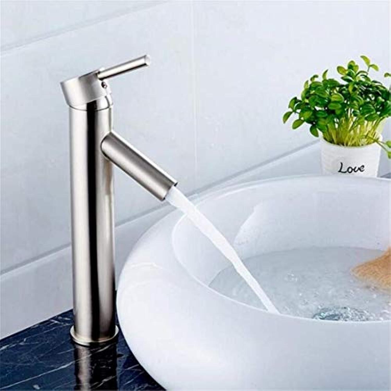 Retro Heier Und Kalter Wasserhahn Vintage überzugarmaturen Waschtischmischer New Bathroom Single Handle Nickel Gebürstet
