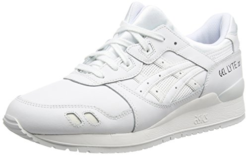 Asics Asics H534L-0101 Gel-Lyte III, Unisex-Erwachsene Laufschuhe Training, Weiß (white/white 0101), 36 EU (3.5 UK)