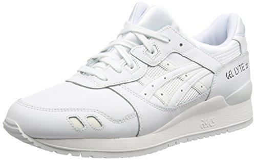 Asics Asics H534L-0101 Gel-Lyte III, Unisex-Erwachsene Laufschuhe Training, Weiß (white/white 0101), 44 EU (10 UK)