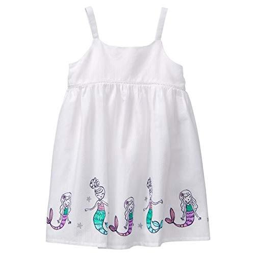 Gymboree - Vestido niña - White, 4T, Cotton, Clothing