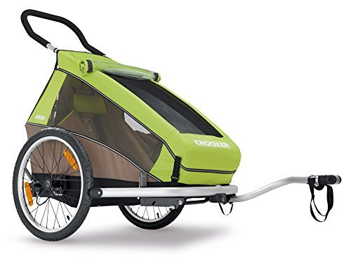 2016 Croozer Kid for 1 - 3 in 1 Single Child Trailer (Includes Trailer kit, Stroller Kit and Jogging Kit) Meadow Green / Sand Grey by Croozer