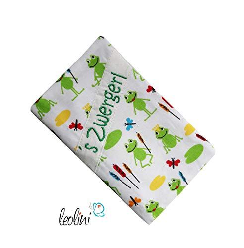 Mutterkindpasshülle Frosch für Österreich Zwergerl Stickerei Mutterkindpass-Hülle handmade