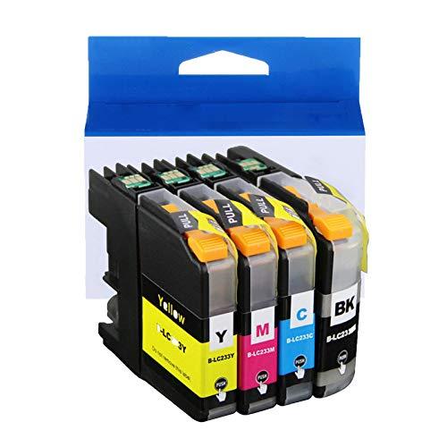 JZMY Cartucho de tinta para Brother DCP-J562DW MFC-J480DW MFC-J680DW MFC-J880DW MFC-J4620DW MFC-J5720DW Modelo LC233XLBK LC233XLC LC233XLM LC233XLY, alta definición