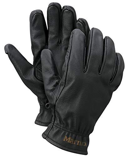 Marmot Basic Work Glove Guantes Trabajo De Cuero, Guantes Resistentes, para Exteriores, Pescar, Conducción, Hombre, Black, S