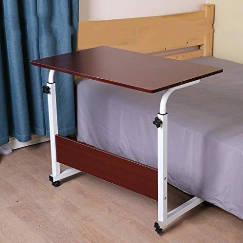 Niet Tilt Top Overbed Tafel, Computer Desk Met Smooth & Afsluitbare Casters Rolling Bureau, In Hoogte Verstelbaar Bureau Laptop Bureau For Bed, Trays For Eten, Lezen, Werk