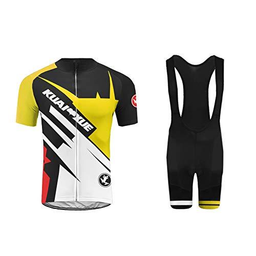 Uglyfrog Ensemble Maillot Cyclisme Pro Manches Courtes Tenue Triathlon Combinaison pour Homme