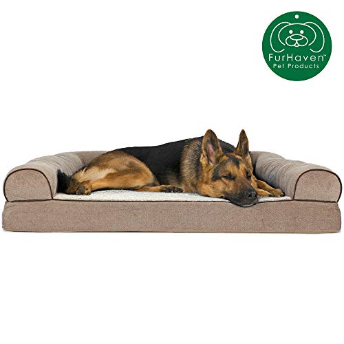 O Furhaven Pet Dog Bed | Sofa-Style Couch Living Room Pet Bed for Dogs & Cats