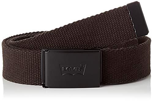 LEVIS FOOTWEAR AND ACCESSORIES Tonal Web Belt cinturón, black, ADJ110 Unisex Adulto