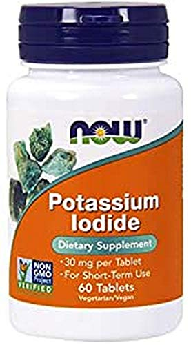 NOW Foods Yoduro De Potasio, 30 Mg 60 Unidades 40