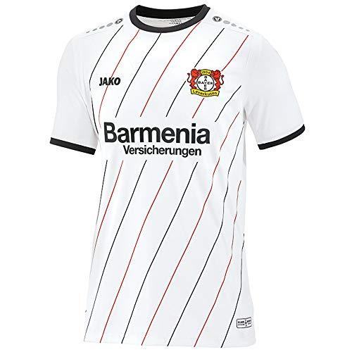 Jako Fußball Bayer 04 Leverkusen 3rd Trikot 2018 2019 Herren Ausweichtrikot Kurzarm Weiß Gr S